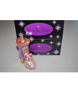 Christopher Radko Pink Purple Rose Shoe Boot Or... - $19.95