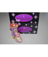"Christopher Radko Pink Purple Rose Shoe Boot Ornament 4"" - $19.95"