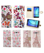 For Samsung Galaxy On5 550 Leather Stand BLING Flip Card Wallet Case Cov... - $8.97