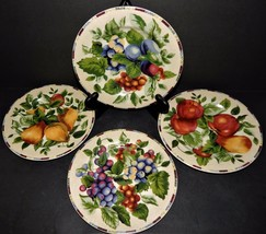 "4 Sakura Sonoma Oneida Excell Fruit Pattern Salad Dessert Plates 8.25""  ... - $32.66"