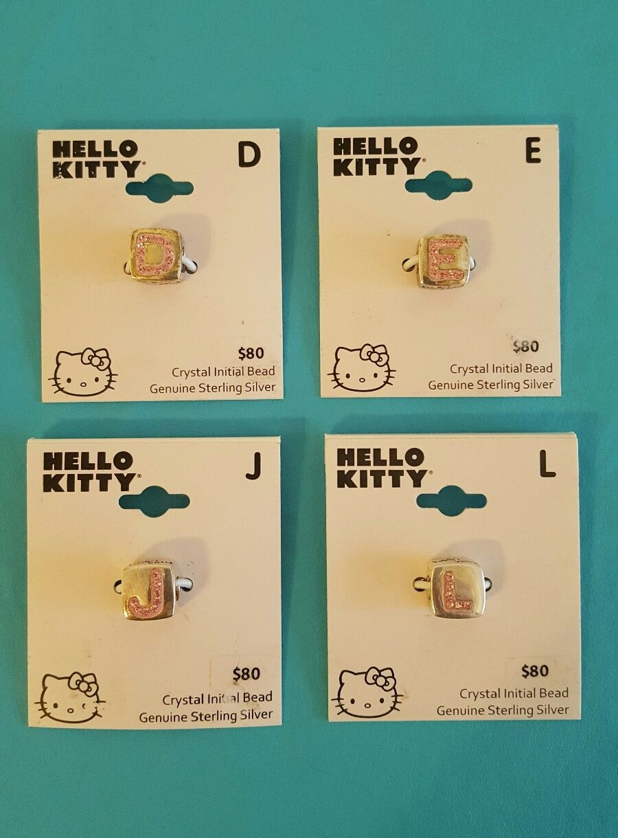 Hello Kitty Sterling Silver Individuality Beads Letter Charms D E J L Pink Kohls for sale  USA