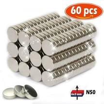 Aimant de néodyme 6 mm diamètre x 3 d'épaisseur Traction Puissante Pour...  - $14.23