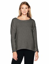 NEW Jockey Women's Flux Lounge Top Charcoal Heather Gray Large Shirt Lon... - $15.09