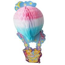 Teddy Bear Baby Shower Centerpiece 3D Honeycomb Hot Air Balloon Party De... - £6.13 GBP