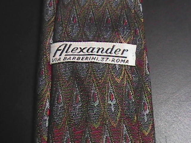 Alexander Via Barberini Roma Silk Neck Tie 2 3/4 Inches at Widest