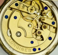 Unique Ancien Longines Argent Poche Watch.fancy Émail Ottoman Cadran - $1,789.93