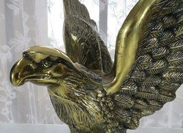 American eagle brass statue Americana Décor Hunting Natural Art Deco mid... - $200.00