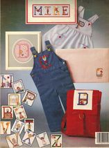Vtg 1979 Cross Stitch Needlework Boys Girls Charted Alphabets Crissinger... - $12.99