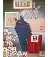 Vtg 1979 Cross Stitch Needlework Boys Girls Charted Alphabets Crissinger... - $12.99