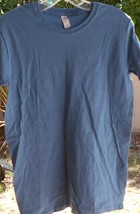 Ladies T-Shirt Small Gildan Softstyle Basic Fit Slate Blue Nwot - $6.99