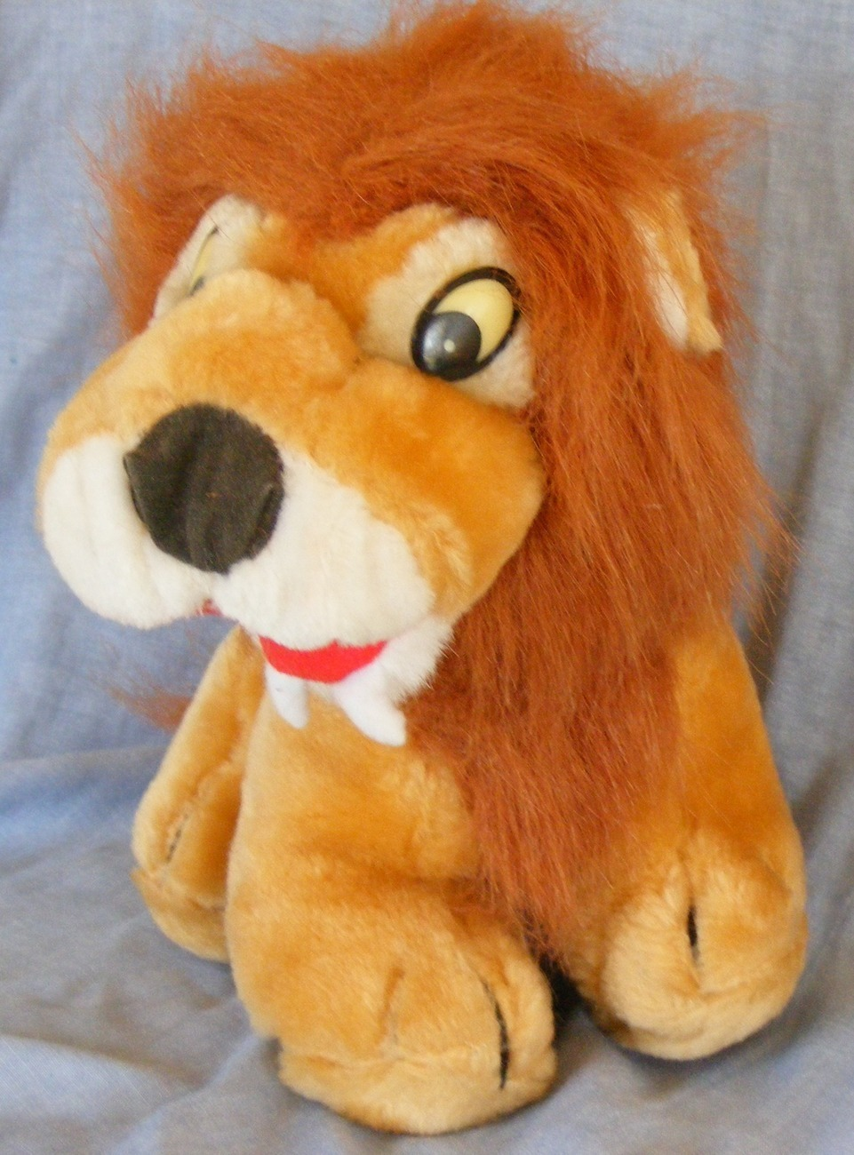 "King of Beasts, Plush toy lion, 9"" gently used"