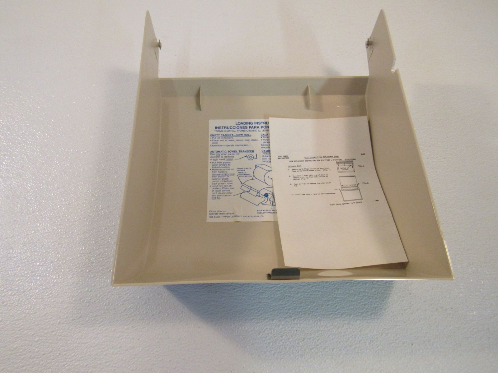Scott Replacement Door Paper Towel Dispenser Beige For 979-5 771286 Plastic
