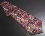 Tie jz richards brown with orange   blue pasleys silk 01 thumb155 crop
