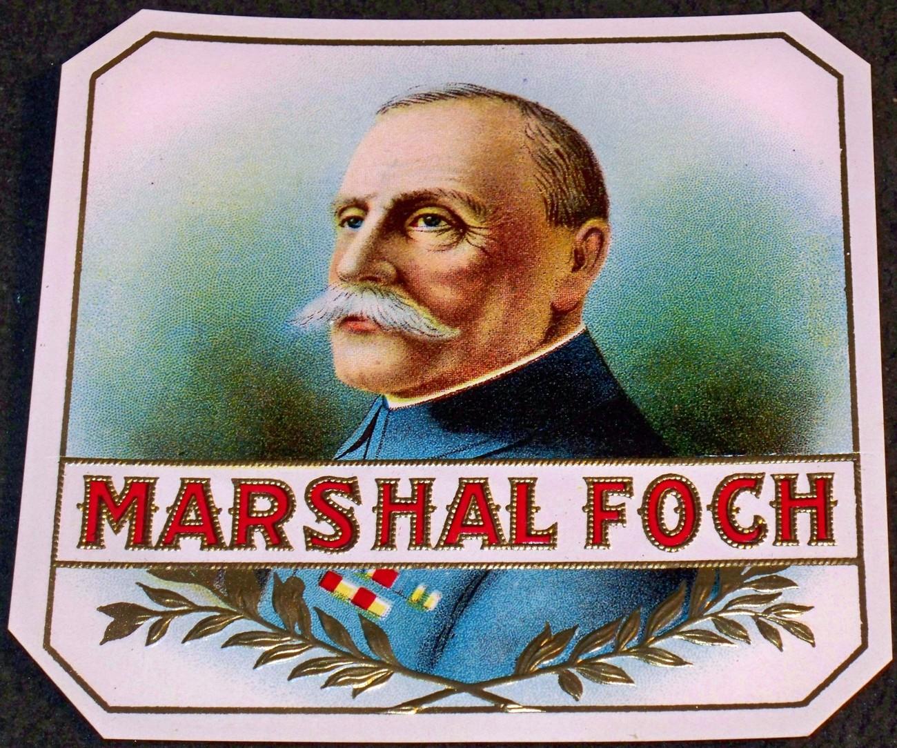 Marshal foch cigar label 001