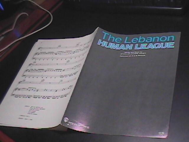 Sheet Music The Lebanon Human League 1984 6 pgs Jo Callis and Phil Oakey A&M