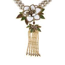 "Heidi Daus ""Magnificent Magnolia"" Beaded Tassel Drop Necklace, BRAND NEW! - $236.00"