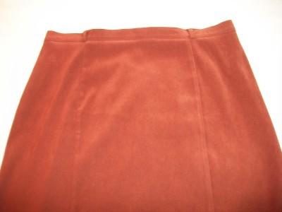 WOMEN NOTATIONS RUST DRESS CAREER LONG SKIRT L LARGE
