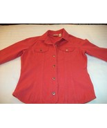 WOMEN CHICO'S ORANGE JACKET TOP L LARGE M MEDIUM - $6.99
