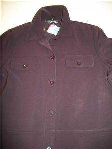 WOMEN INCLINATIONS PETITE TOP L LARGE PURPLE NWT XL