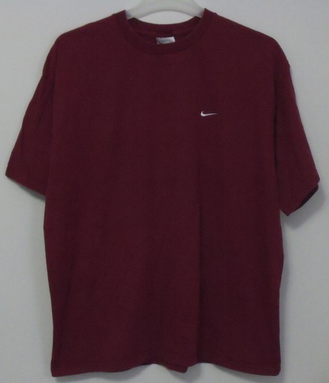 Mens Nike Maroon Short Sleeve T Shirt Size XL Nike