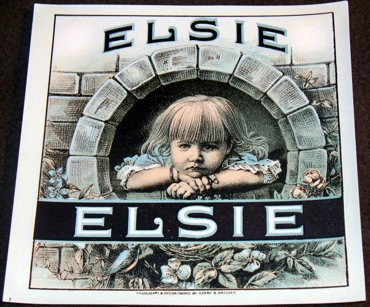 Elsie outer cigar label 001