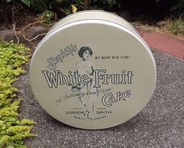 Round Smith's White Fruit Biscuit Cookie Tin, Alabama Large Metal Cake Tin - £14.56 GBP