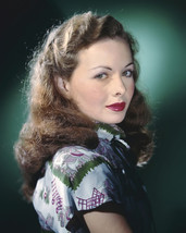 Jeanne Crain gorgeous in print blouse deep red lips 16x20 Canvas Giclee - $69.99