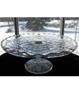 Antique EAPG Cake Stand - Indiana Rayed Flower - $40.00