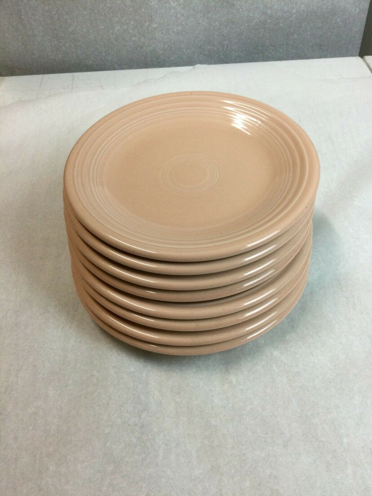 "8 Fiesta Ware Serving Plates Apricot Color - 7.25"" - $118.80"