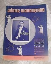 VINTAGE SHEET MUSIC **WINTER WONDERLAND * 1934 * ORIGINAL  - $7.03