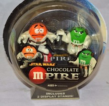 2005 Star Wars Chocolate Mpire - Luke and Leia  M&M Action Figure - $14.99