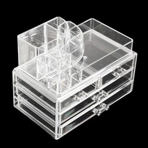 Clear Acrylic Lipstick Holder Display Stand Cosmetic Organizer Makeup Case Lip H - $86.00