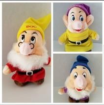 Disneyland Walt Disney World Snow White Dwarfs Sneezy Doc Dopey Plush Do... - $16.82