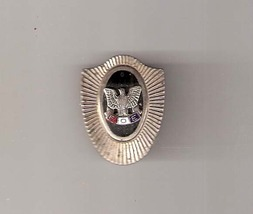 Vintage Fraternal Order of Eagles Pin / Fob Silver and Onyx. 1940's - $18.00