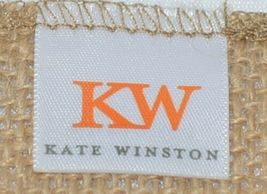Kate Winston Brand Brown Burlap Monogram Black White M Garden Flag image 4