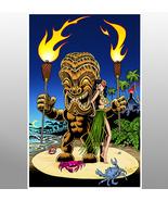 """""""Tiki Torch Man and Wahine"""" - $25.00"""
