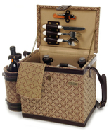 ESTATE ENHANCED LUXURY WOODEN PICNIC CHEST FOR ... - $117.00