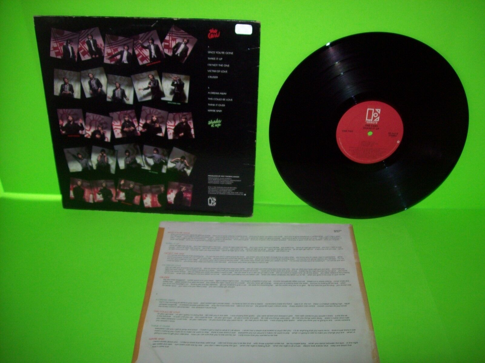 The Cars Shake It Up 1981 Vinyl LP Record Album Synth-Pop Pop Rock New Wave