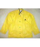 1990 Chevron Mapp Team Neese Sz M Yellow Protective Rain Parka Jacket USA - $13.94