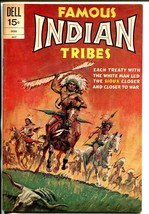 Famous Indian Tribes #21 1972-Dell- Sioux Indians-Custer's Last Stand-FN+ image 1