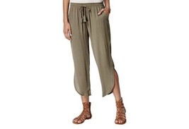 American Rag Teardrop-Hem Soft Pants Olive Green Ex Large Junior Women Trouser - $18.53