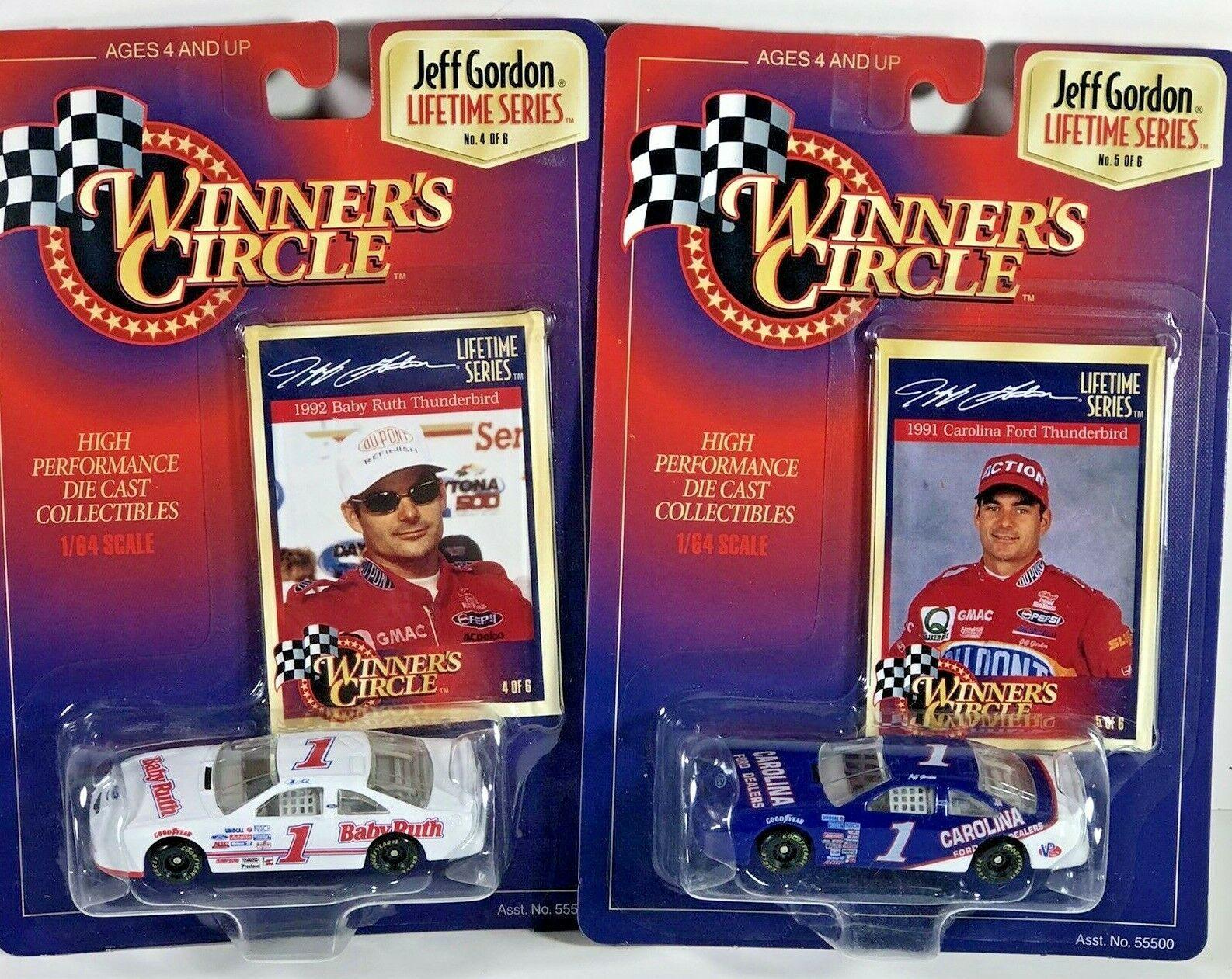Two '97 LIFETIME SERIES JEFF GORDON #1 Baby Ruth & Carolina Winners Circle Cars - $15.83