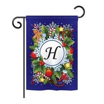 "Winter H Initial - 13"" x 18.5"" Impressions Garden Flag - G180086 - $19.97"