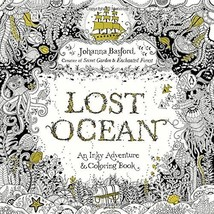 Lost Ocean: An Inky Adventure and Coloring Book for Adults by Johanna Ba... - $14.11