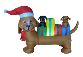 Inflatable Dachshund Christmas Dogs Airblown Outdoor Yard Lawn Decoratio... - €77,30 EUR