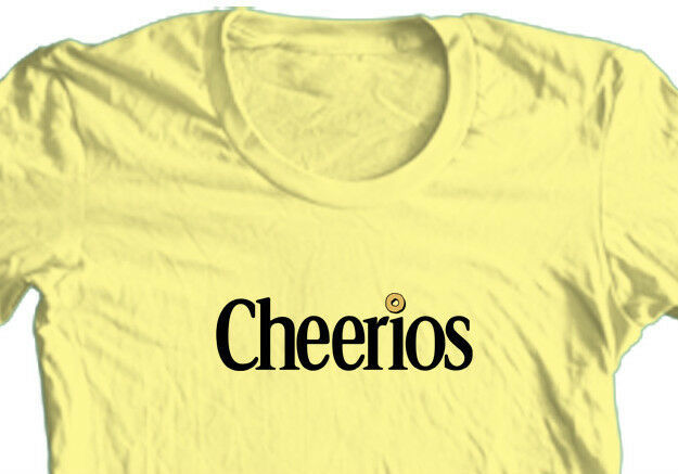 Cheerios T-shirt retro 70's 80's cereal 100% cotton graphic printed yellow tee