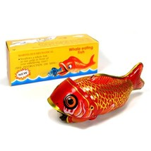 WHALE EATING FISH Collectible Mechanical Tin Toy Retro Vintage Style Met... - $19.88