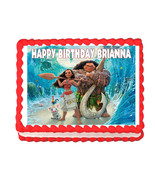 Moana Party Edible cake image cake topper decoration - personalized free - $8.86