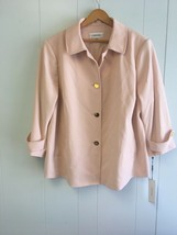 CALVIN CLEIN Women's Cropped Jacket  22W/22F/22M pink #962 - $39.99