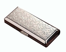 Fashion Durable Nobility Men's Ultra Thin Cigarette Case Cig Holder Box, Silver
